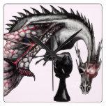 reloj de pared del dragón del empeño