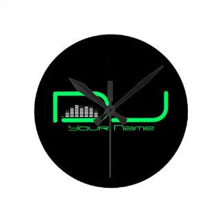 Reloj de pared del equalizador de DJ