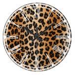 Reloj de pared del estampado leopardo