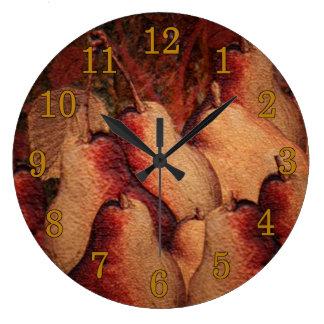Reloj de pared del estilo del vintage de las peras