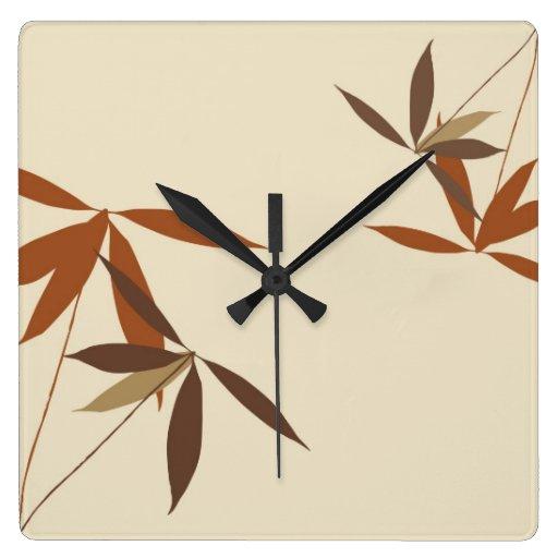 Reloj de pared del estilo japonés
