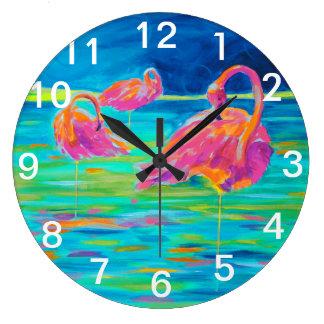 Reloj de pared del flamenco