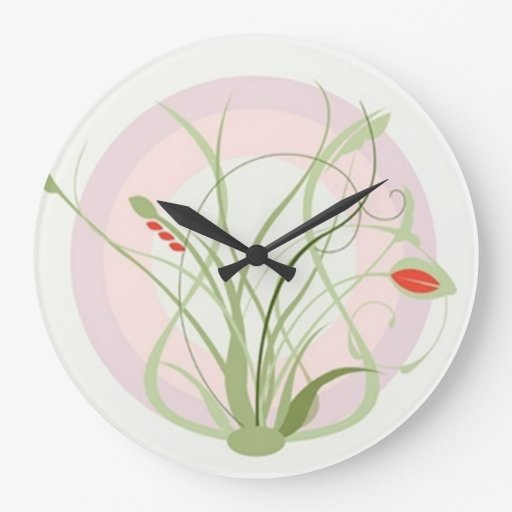 Reloj de pared del Flourish