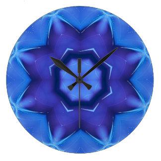 Reloj de pared del fractal de la estrella