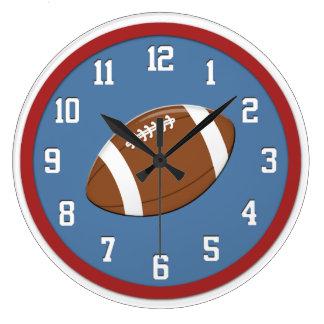 Reloj de pared del fútbol americano