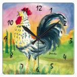 Reloj de pared del gallo