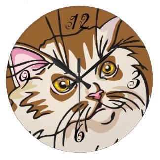 Reloj de pared del gatito