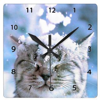 Reloj de pared del gato