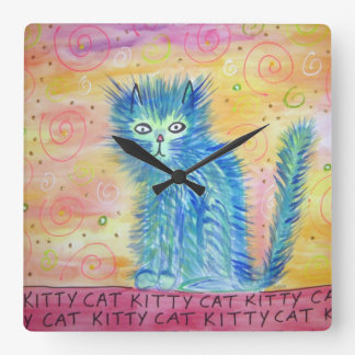 Reloj de pared del gato del gatito