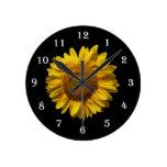 Reloj de pared del girasol de la flor - girasol gi