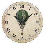 Reloj de pared del globo del aire caliente de Stea