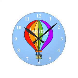 Reloj de pared del globo del aire caliente para el