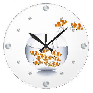 Reloj de pared del Goldfish