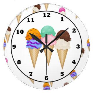 Reloj de pared del helado del dibujo animado