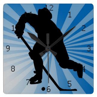 reloj de pared del hockey