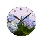 Reloj de pared del Hydrangea