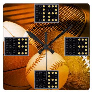 Reloj de pared del juego de los deportes