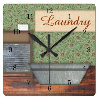 Reloj de pared del lavadero
