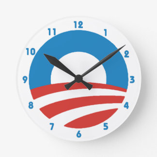 """Reloj de pared del logotipo de Obama """"O"""""""