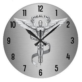 Reloj de pared del logotipo del emblema de la