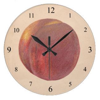 Reloj de pared del melocotón del vintage
