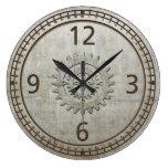 Reloj de pared del metal de Steampunk