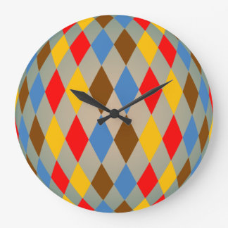 Reloj de pared del modelo del diamante del Harlequ