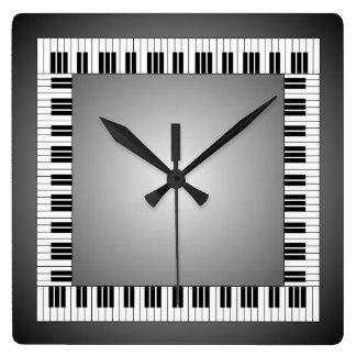 Reloj de pared del modelo del teclado de piano