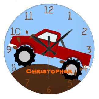 Reloj de pared del monster truck