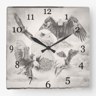 Reloj de pared del montaje de Eagle