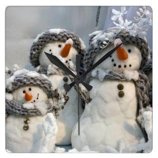 Reloj de pared del muñeco de nieve del navidad