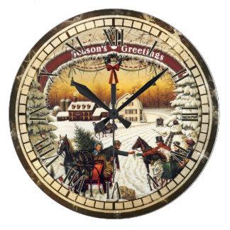 Reloj de pared del navidad