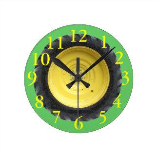 Reloj de pared del neumático del tractor