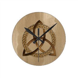 Reloj de pared del nudo de la trinidad de Triquetr