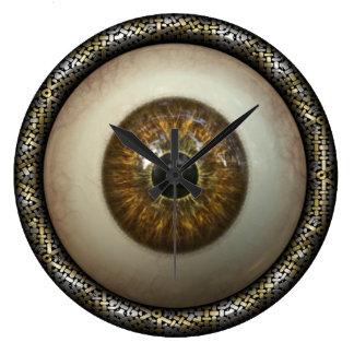 Reloj de pared del ojo de Brown