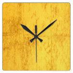 Reloj de pared del oro