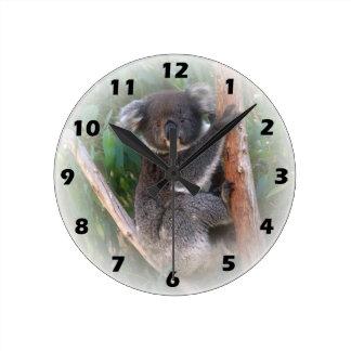 Reloj de pared del oso de koala