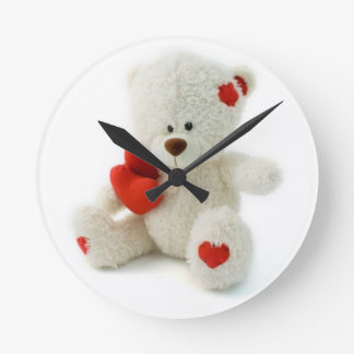Reloj de pared del oso de peluche del el día de Sa