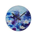 Reloj de pared del © P Wherrell Waterlilies