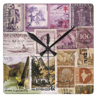 Reloj de pared del paisaje de la oscuridad, arte