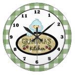 Reloj de pared del pájaro de la cocina de la abuel