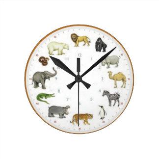 Reloj de pared del parque zoológico