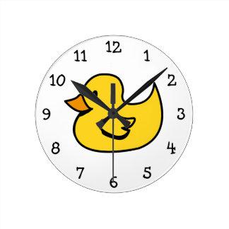 Reloj de pared del pato