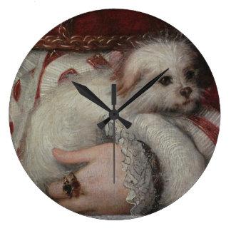 Reloj de pared del perro de Reinaissance