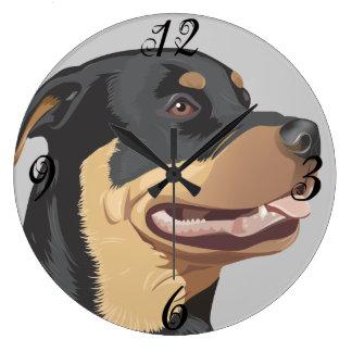 Reloj de pared del perro de Rottweiler