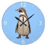 Reloj de pared del pingüino