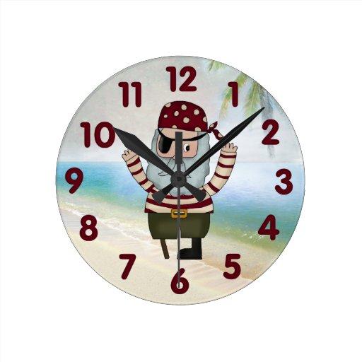 Reloj de pared del pirata