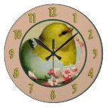 Reloj de pared del polluelo del bebé del vintage