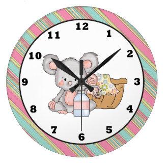 Reloj de pared del ratón del lavadero