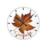 Reloj de pared del recuerdo de Canadá del reloj de